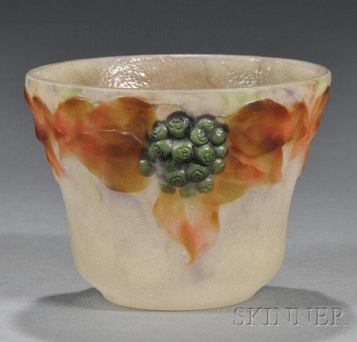 218: G. Argy-Rousseau Art Glass Bowl Molded pate de ver