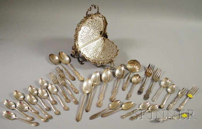 9: Group of Silver and Silver-plated Flatware and a Sil