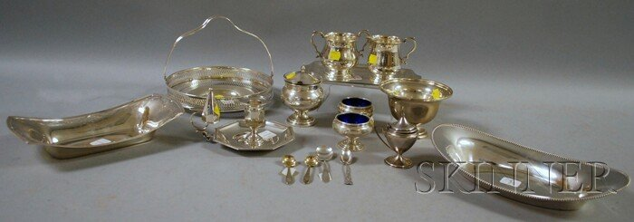 18: Approximately Twelve Sterling Silver Items, a recta