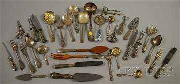 76 Group of Sterling and Silverplated Flatware and Se