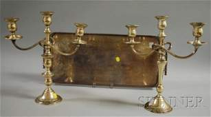 133A Three Silver Table Items a silverplated rectang