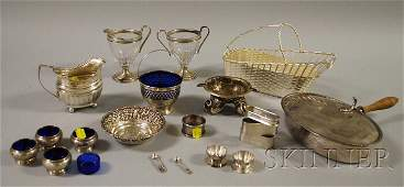 147 Group of Assorted Silver and Silverplated Table I