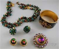 196: Small Group of Designer Costume Jewelry, a Hob? ne