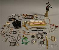 246 Group of Costume and Victorian Jewelry including