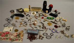 283: Group of Assorted Mostly Victorian Costume Jewelry