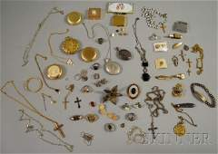 322: Small Group of Estate, Sterling Silver, and Costum