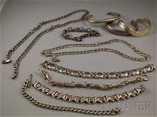 328: Small Group of Sterling Silver Jewelry, including