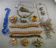 422 Small Group of Costume Jewelry including signed p
