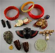 468 Group of Bakelite and Costume Jewelry including a