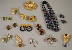 496 Small Group of Signed Costume Jewelry including a