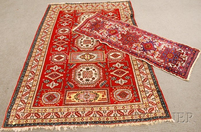 703: Two Oriental Rugs, 20th century, 7 ft. 2 in. x 4 f