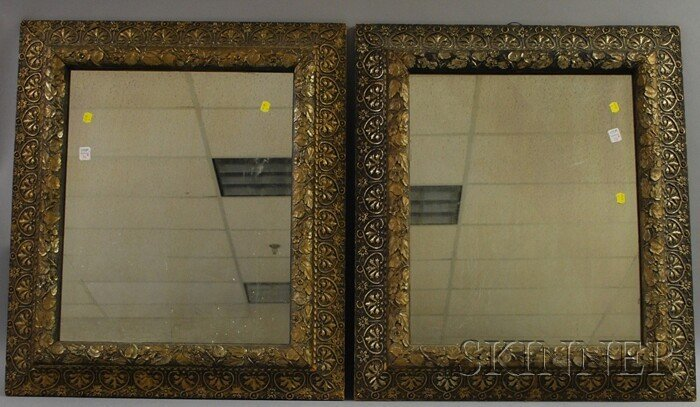 706: Pair of Late Victorian Gilt-gesso Framed Mirrors,