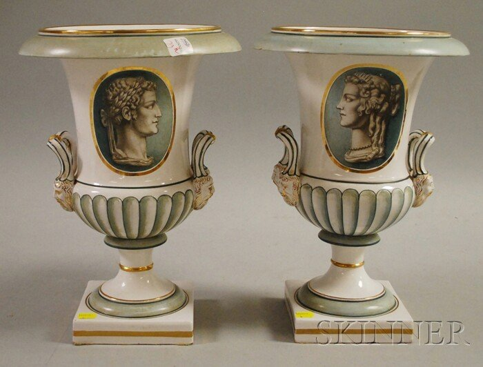 713: Pair of Modern Italian Neoclassical-style Gilt and