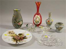 776 Eight Pieces of Assorted Art Glass a Victorian Ae