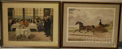 1010 Two Framed British Handcolored Prints a W Dend