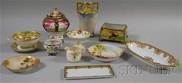 1073 Thirteen Nippon Gilt and Handpainted Porcelain T