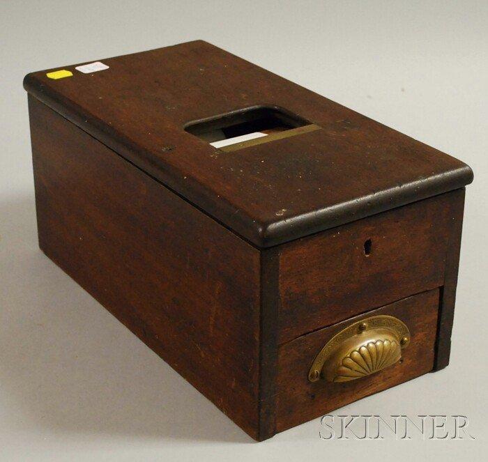 1393: G.H. Gledhill & Sons Ltd. Mahogany Cash and Count