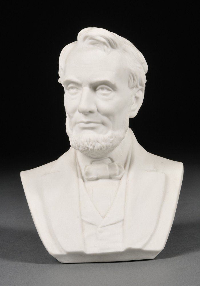 1: Ott and Brewer Parian Bust of Abraham Lincoln, Trent