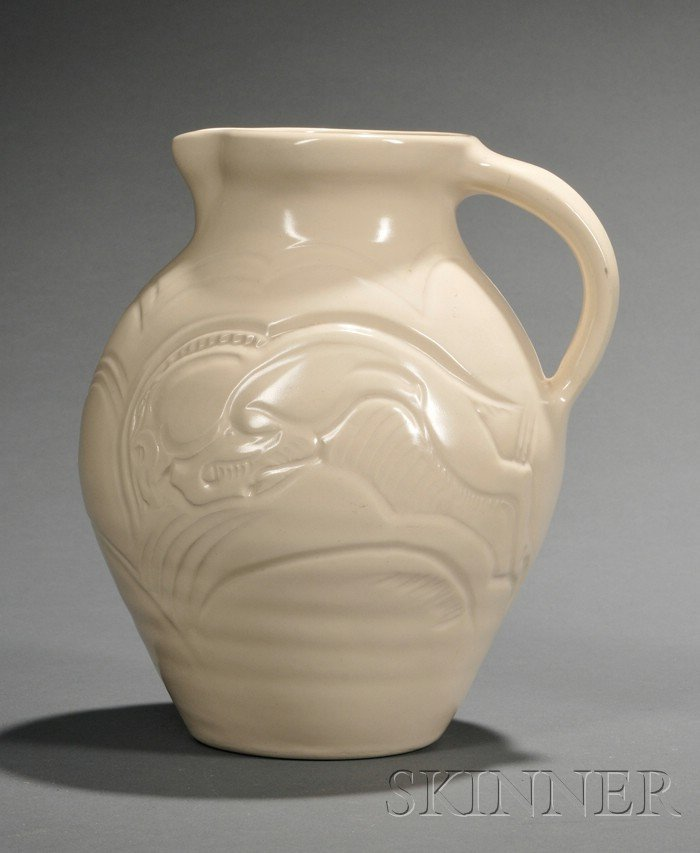 3: Susie Cooper Cream Glazed Art Pottery Pitcher, Engla