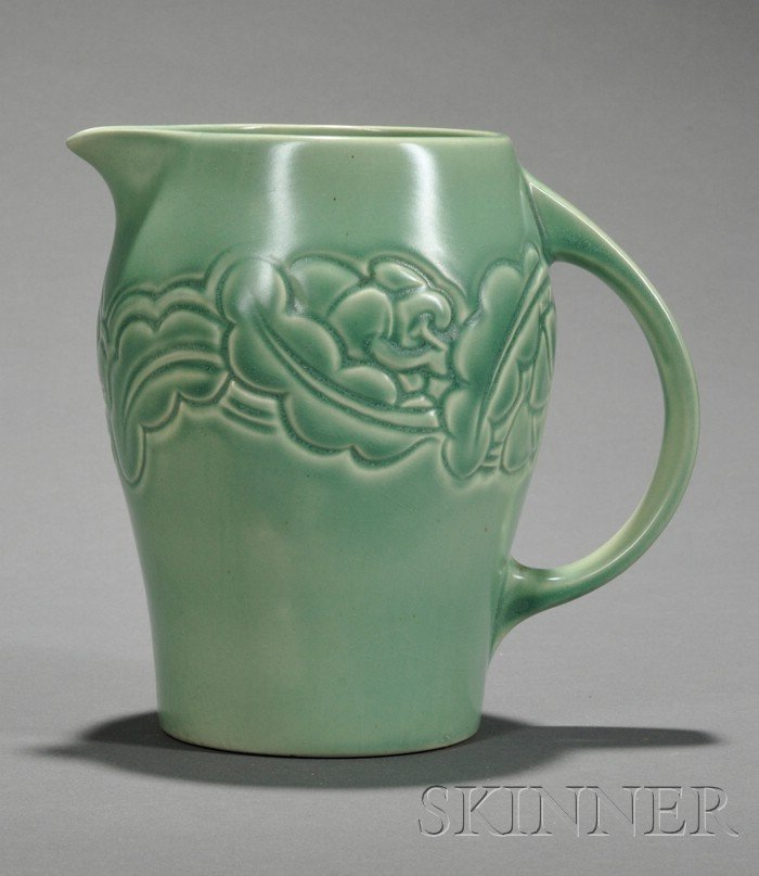 5: Susie Cooper Matte Green Glazed Art Pottery Pitcher,