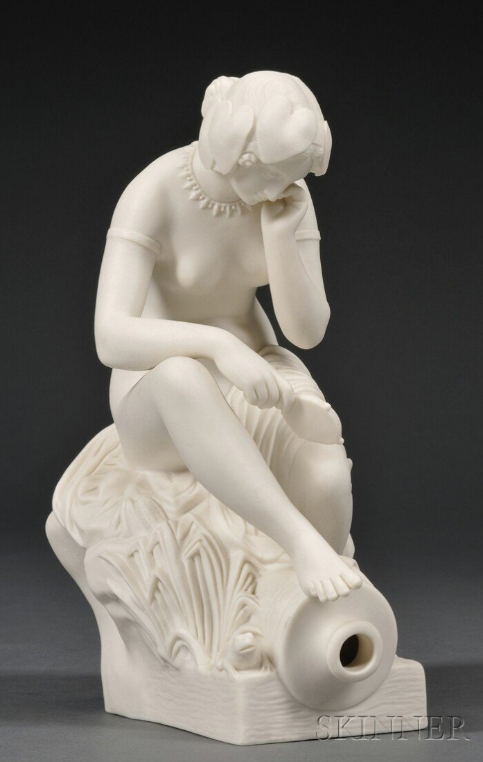 23: Copeland Parian Figure of River Allegory, England,