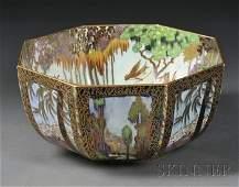 271: Wedgwood Fairyland Lustre Octagonal Bowl, England,