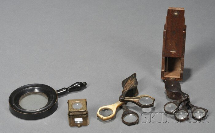 20: Four Magnifiers, 19th century, including a three-le