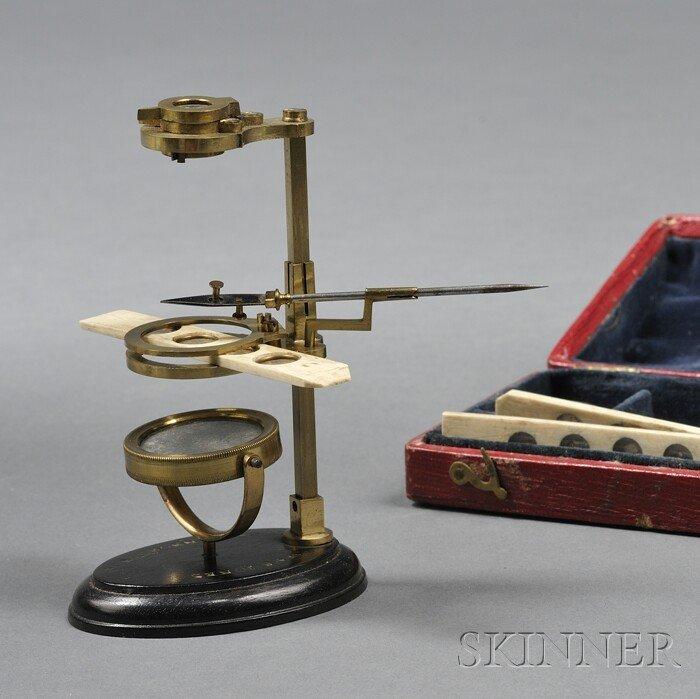 23: Cased Brass Naturalist's Microscope, W&S Jones, 30