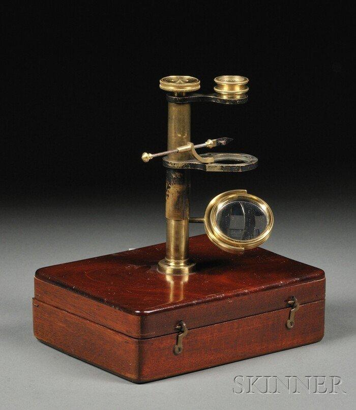 24: Brass Naturalist's Microscope, England, first half