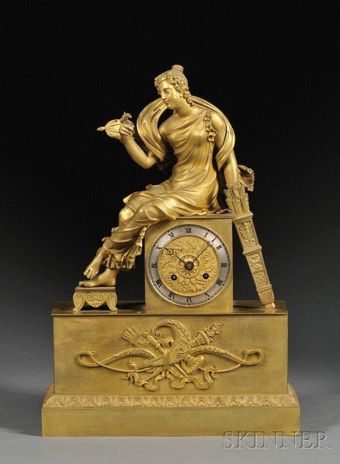 505: French Ormolu Figural Mantel Clock, probably Paris