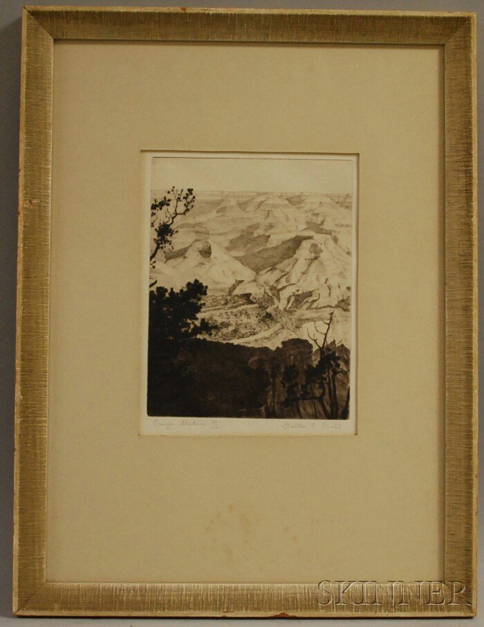 8: Walter Edward Bohl (American, 1907-1990) Canyon Shad