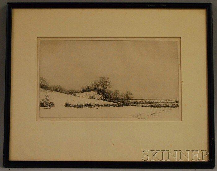 9: Kerr Eby (American, 1889-1946) Tide Mill Marsh. Sign