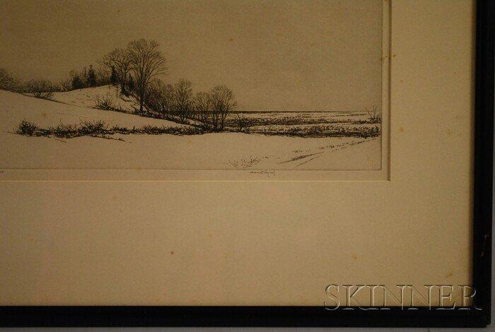 9: Kerr Eby (American, 1889-1946) Tide Mill Marsh. Sign - 2