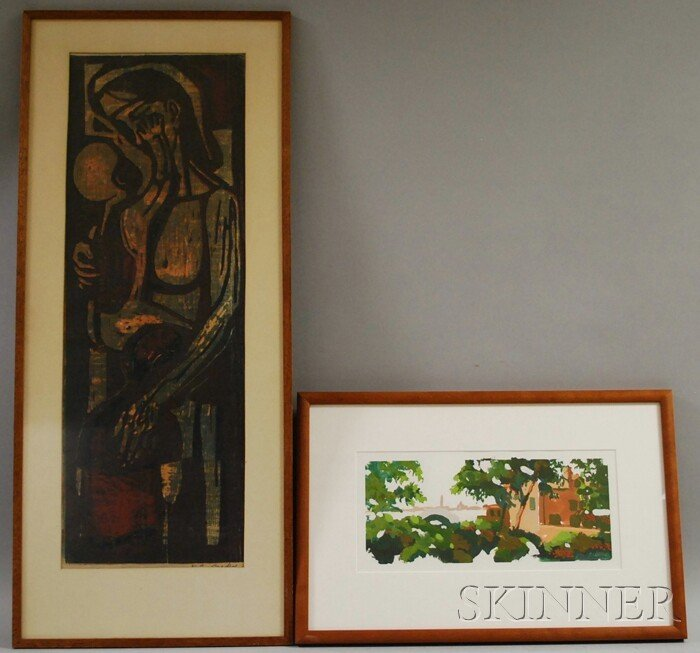 10: American School, 19th/20th Century  Lot of Two Work