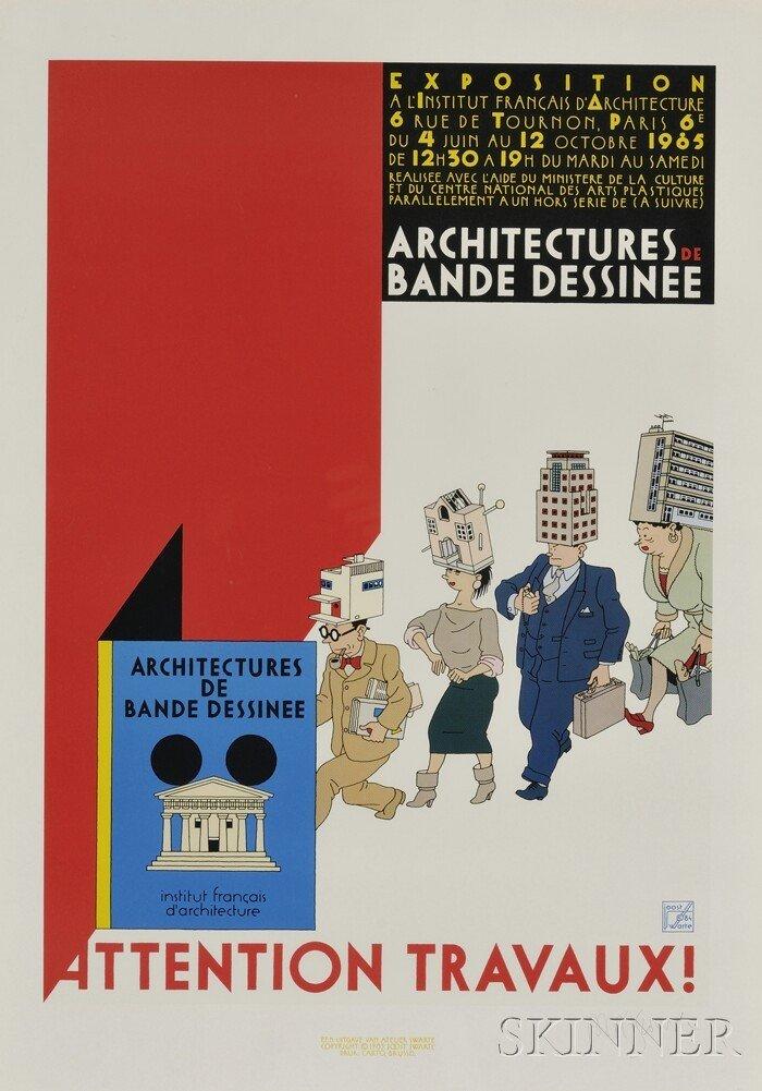 11A: Joost Swarte (Dutch, b. 1947) Attention Travaux! A
