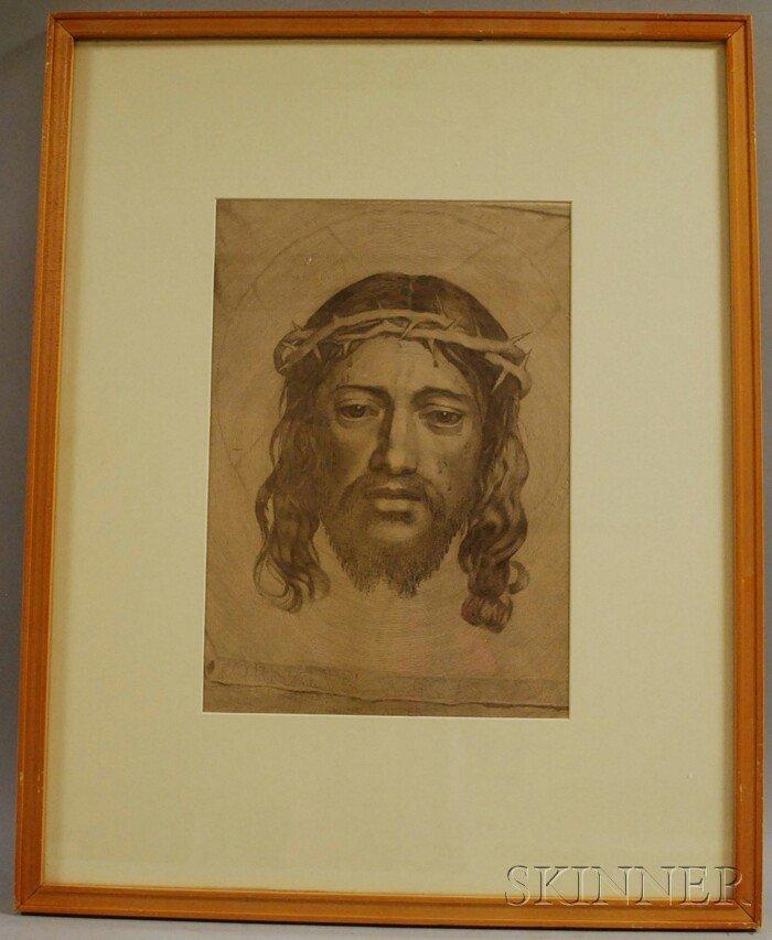 13: After Claude Mellan (French, 1598-1688) Le Sainte F