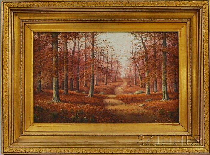 510: 20th Century American School Oil on Canvas Depicti