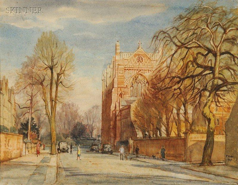 511: Francis Dodd (British, 1874-1949) Woodland at Chis
