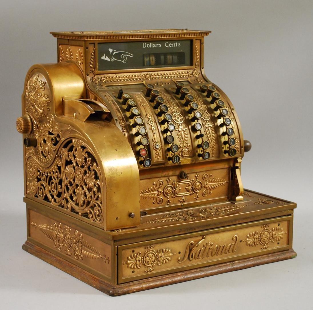 661: Brass Cash Register, model no. 79, National Cash R