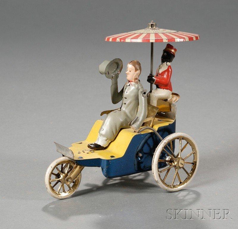 923: Lehmann Tin Wind-up Open Air Touring Car Toy, Germ