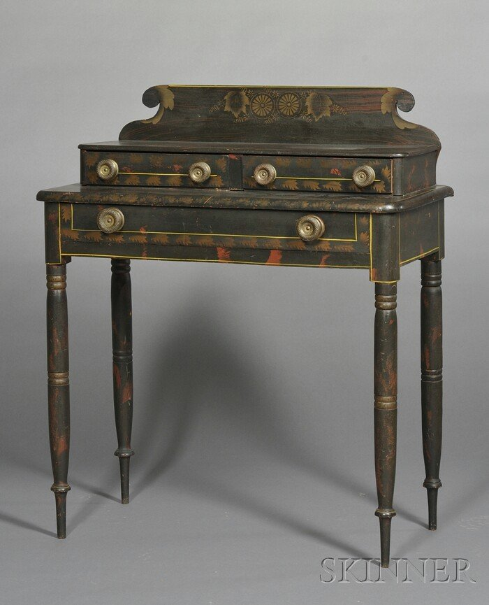 18: Fancy-Painted Dressing Table, New England, c. 1830,
