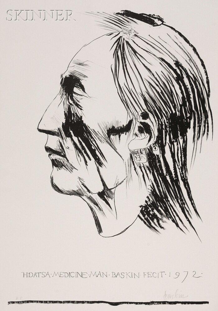 8: Leonard Baskin (American, 1922-2000) Hidatsa Medicin