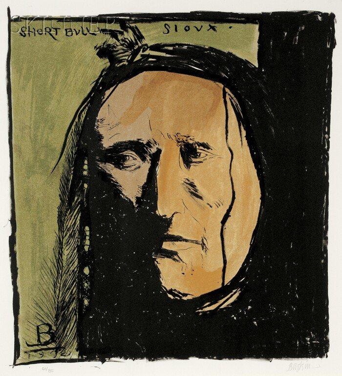10: Leonard Baskin (American, 1922-2000) Short Bull Sio