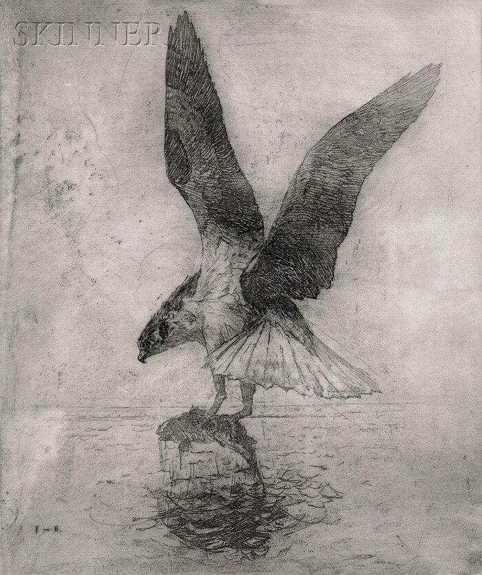 14: Frank Weston Benson (American, 1862-1951) Fish Hawk