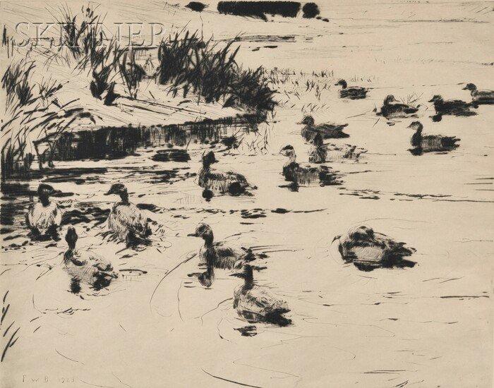 16: Frank Weston Benson (American, 1862-1951) Ducks at