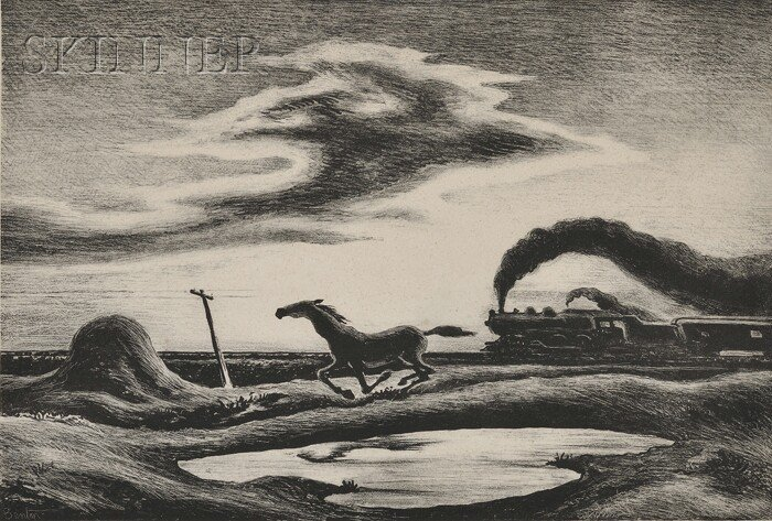18: Thomas Hart Benton (American, 1889-1975) The Race,