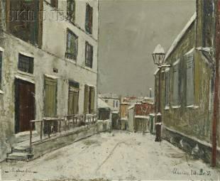 518: Maurice Utrillo (French, 1883-1955), Impasse train