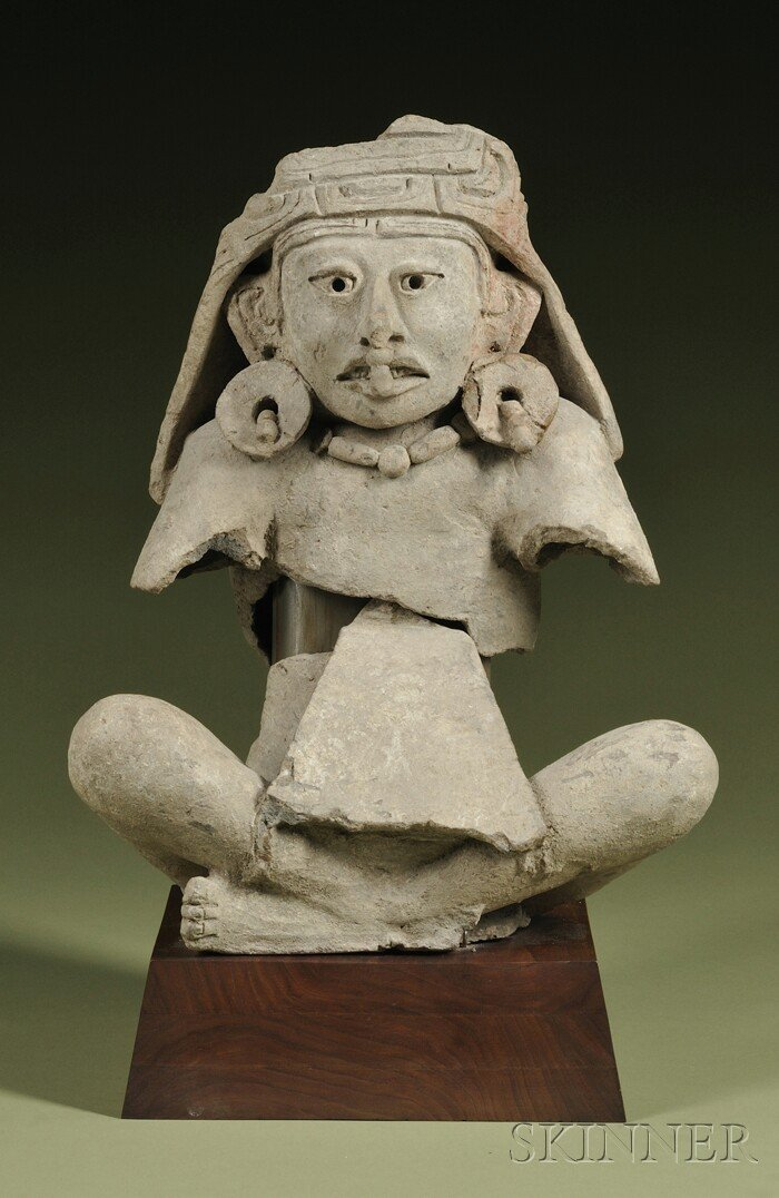 4: Pre-Columbian Fragmentary Seated Figure, Zapotec (?)