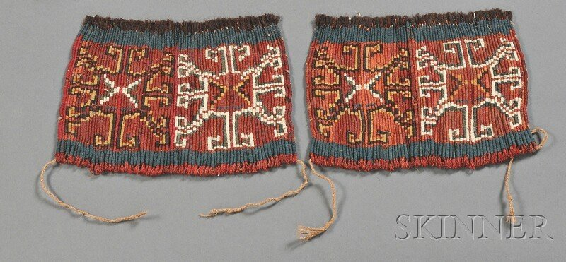 14: Two Pre-Columbian Wrapped Textile Panels, Nazca, c.