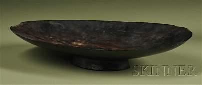 125: Polynesian Carved Wood Oil Dish, Fiji, 19th centur